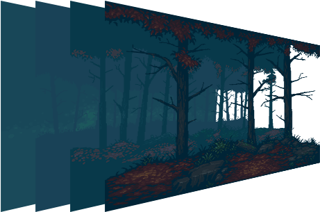 Download Mystery Forest Pixel Art Background Pixel Art Parallax Background Full Size Png Image Pngkit