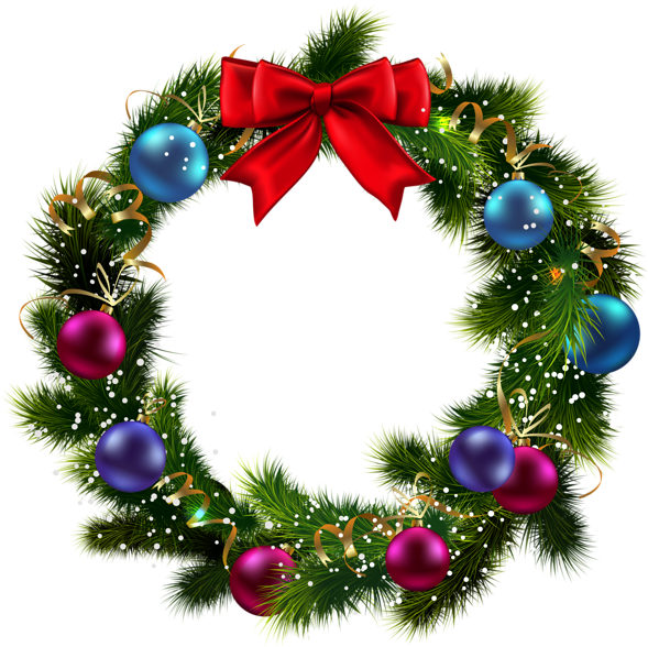 Download Wreath Clipart Light Png Christmas Wreath With