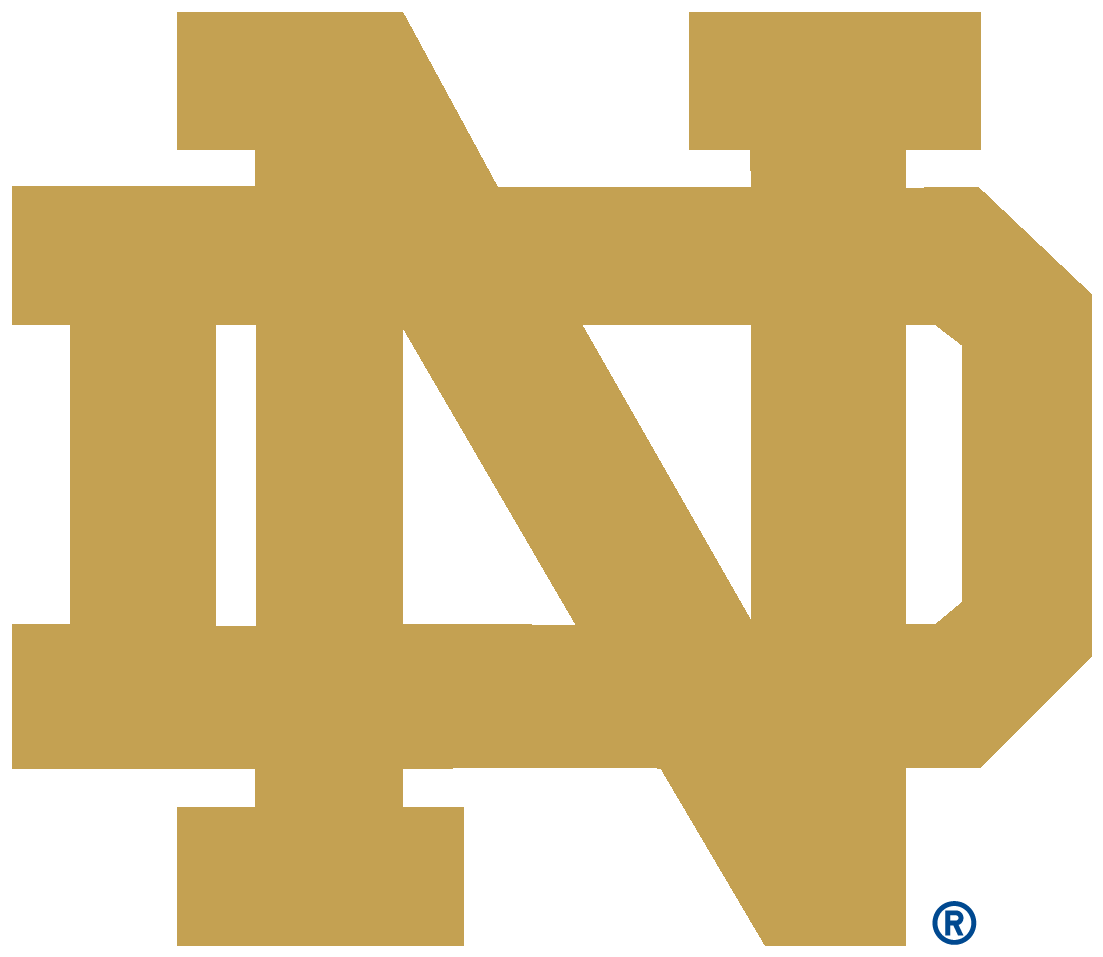 Download Notre Dame Logo Notre Dame Logo, Ohio State University, - Full  Size PNG Image - PNGkit