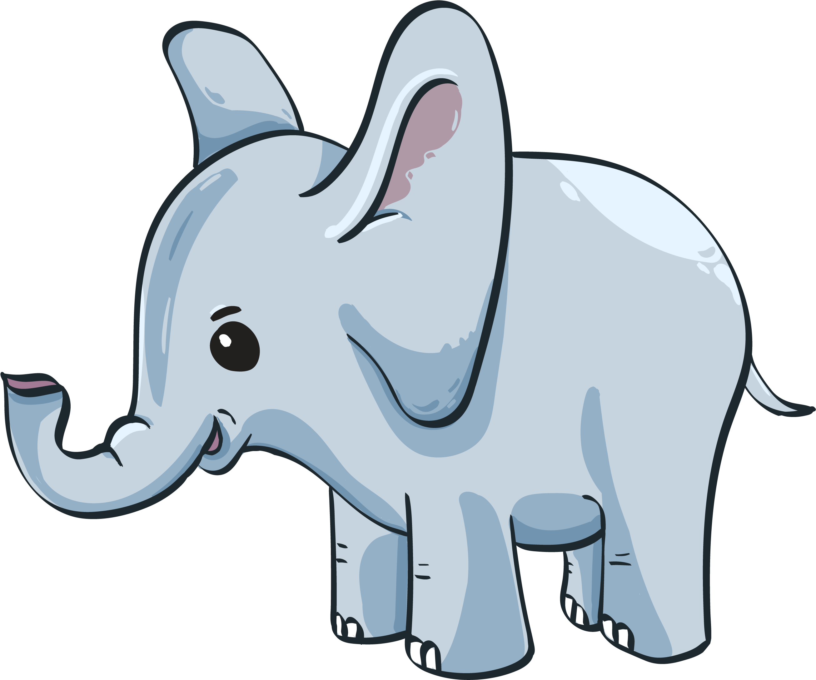 Download Cute Baby Elephant Gambar Anak Gajah Kartun Full Size