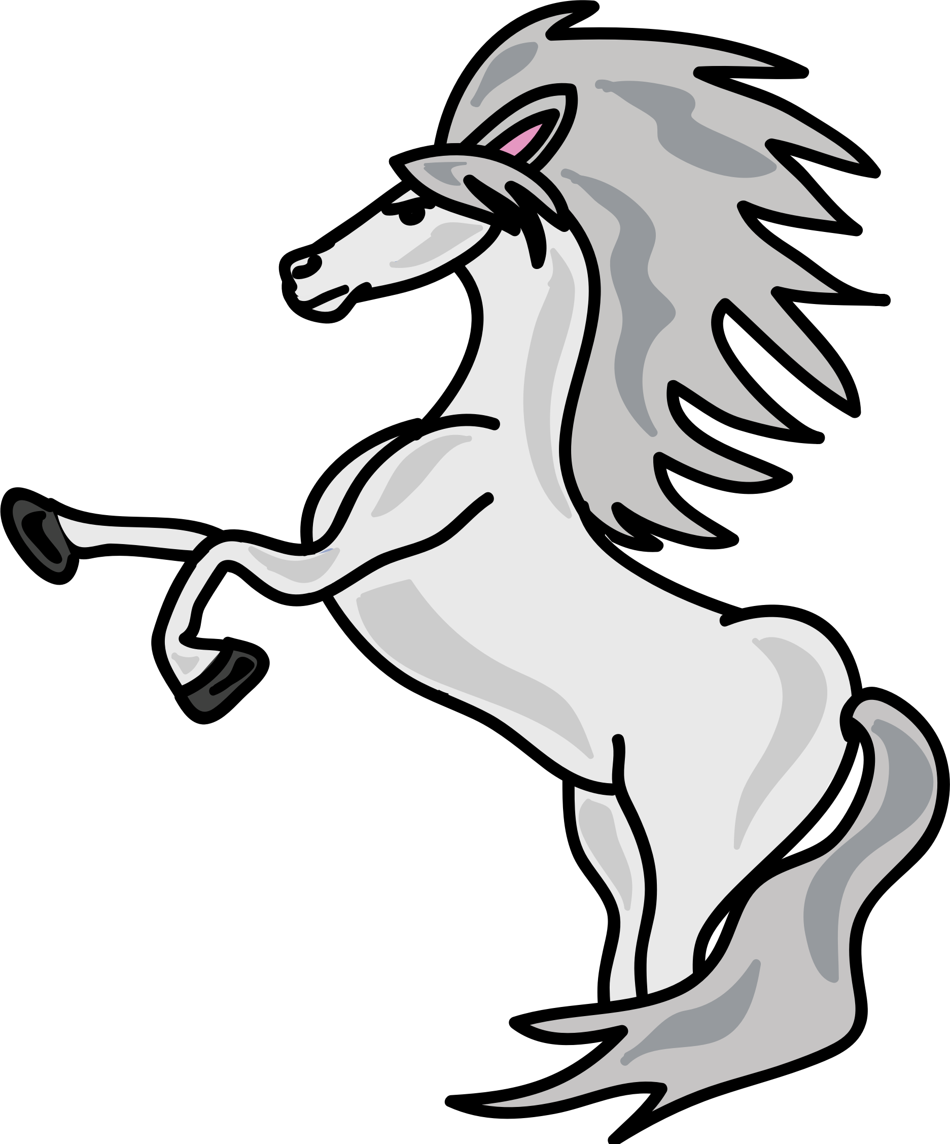 Download Horse Head Png Download Clipart Domestic Black And White Full Size Png Image Pngkit
