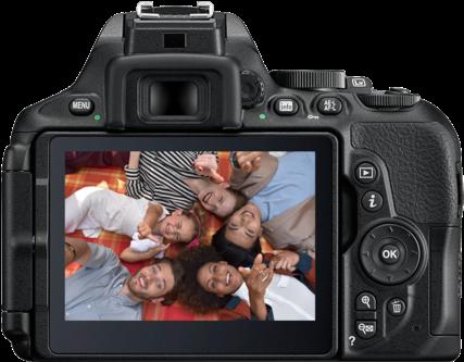 Download Nikon D5600 + 18-140mm Lens - Full Size PNG Image