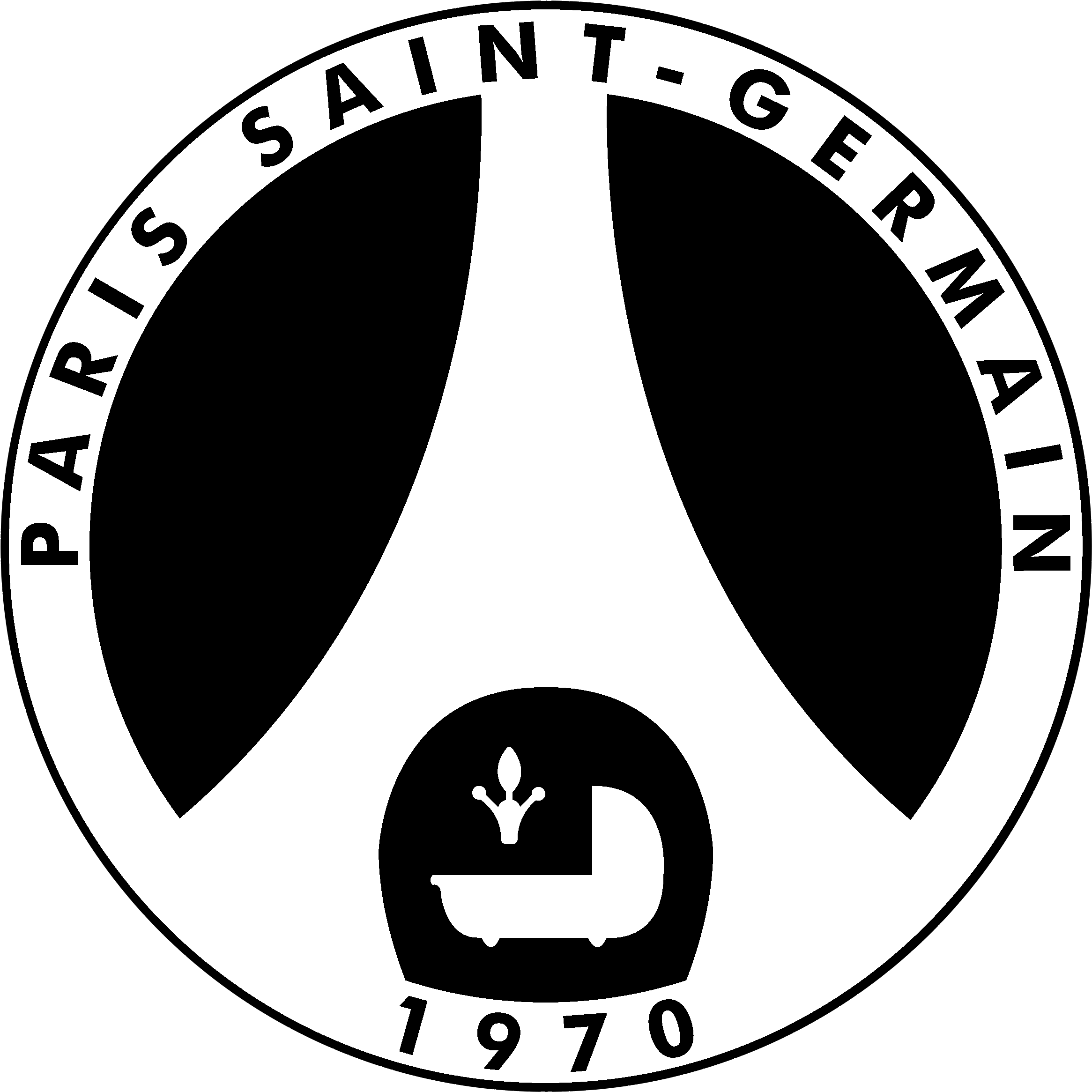 Download Psg Logo Black And White Logo Paris Saint Germain Negro Full Size Png Image Pngkit