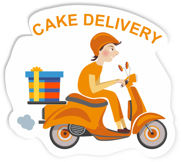Download Free Delivery - Cake Delivery Clipart - Full Size PNG Image -  PNGkit
