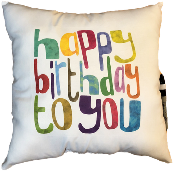 Download Happy Birthday To You Autograph Pillow - Cute