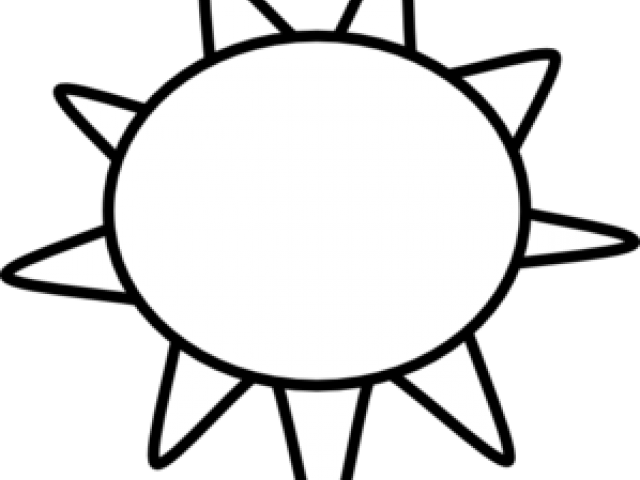 Download Sun Clipart Clipart Outline Sun Clipart Black And White