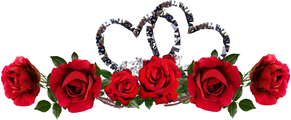 Download Valentine Roses Red Flowers Hearts Entwined Valentine