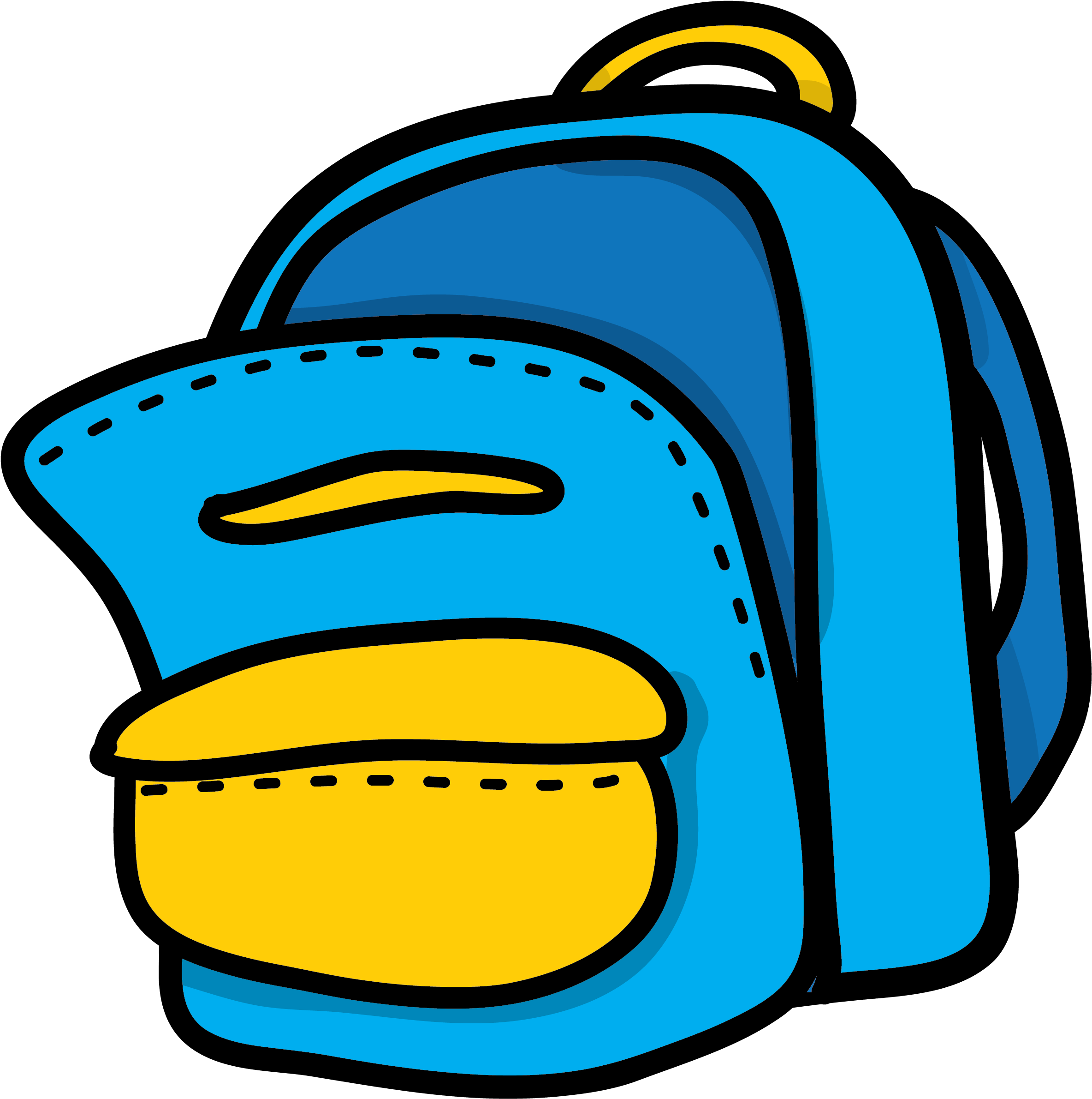 download blue & yellow backpack clipart - blue backpack clip art - full  size png image - pngkit  pngkit