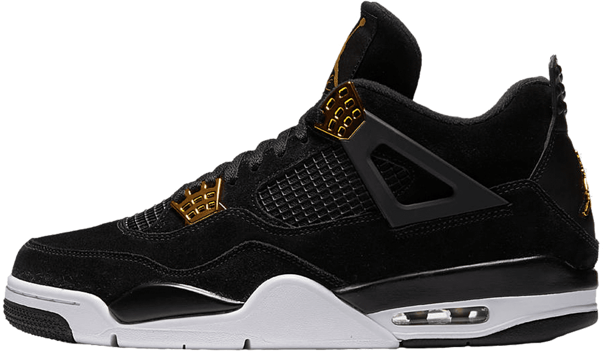 79b36037476e48 Nike Air Jordan 4 Retro Black   Metallic Gold   White - Nike Air Jordan  Retro