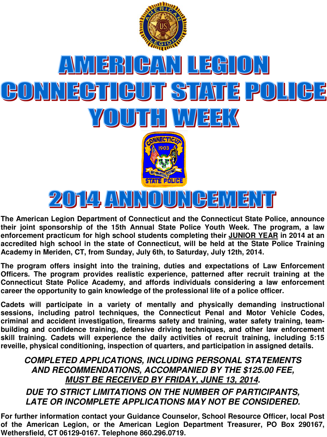 Download 2018 State Police Youth Week Application - Full