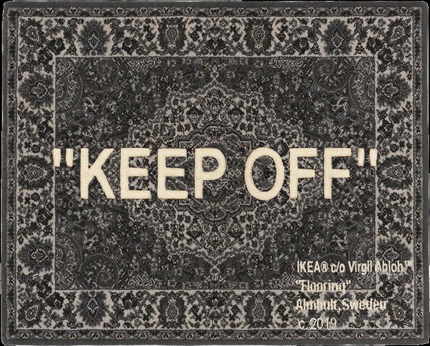 Download Ikea X Off White Keep Off Rug Virgil Abloh Ikea Rug Full Size Png Image Pngkit