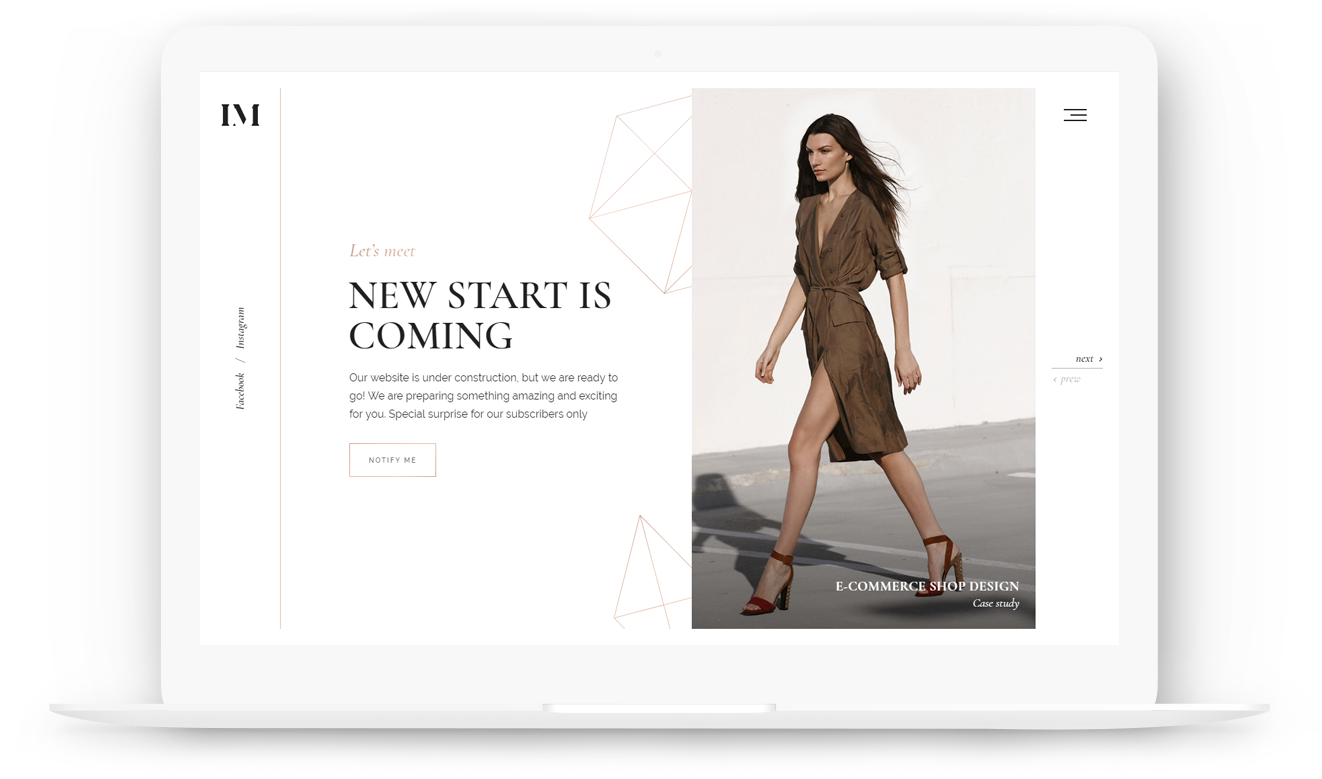 Download Classy Coming Soon And Landing Page Template Display Advertising Full Size Png Image Pngkit
