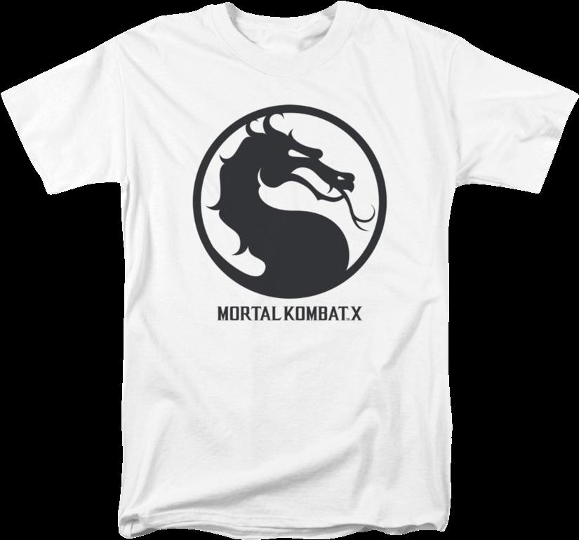 mortal kombat logo t shirt
