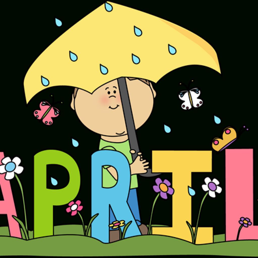 April printable. Download clipart cute borders