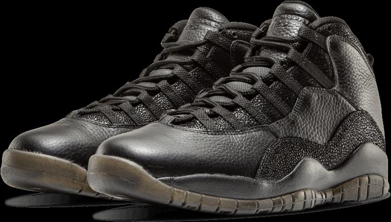 best website ac553 80226 The Daily Jordan - Jordan Retro 10 Black (1000x600), Png Download