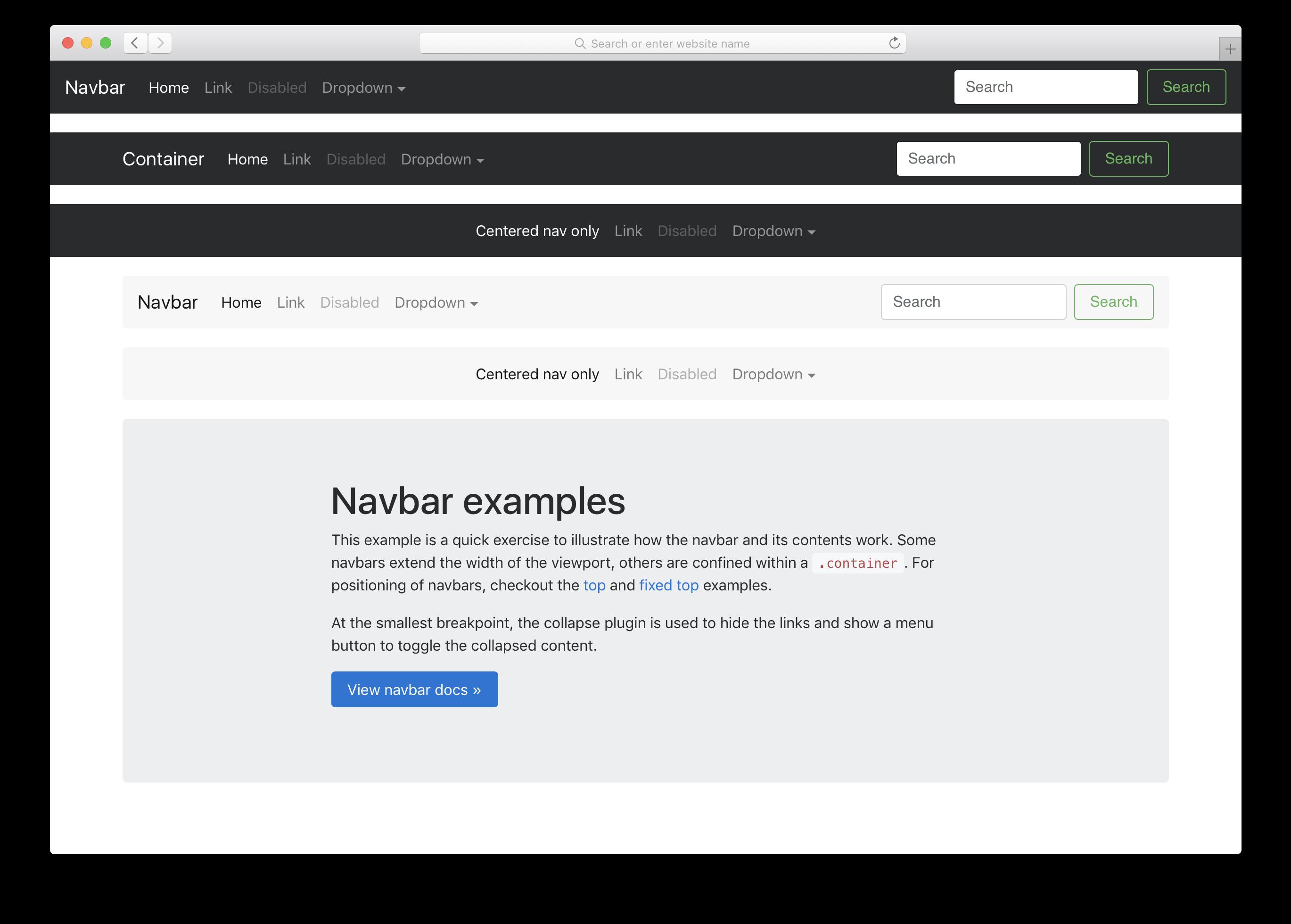 BOOTSTRAP 4 NAVBAR FIXED TOP TEMPLATE - Download Bootstrap 4