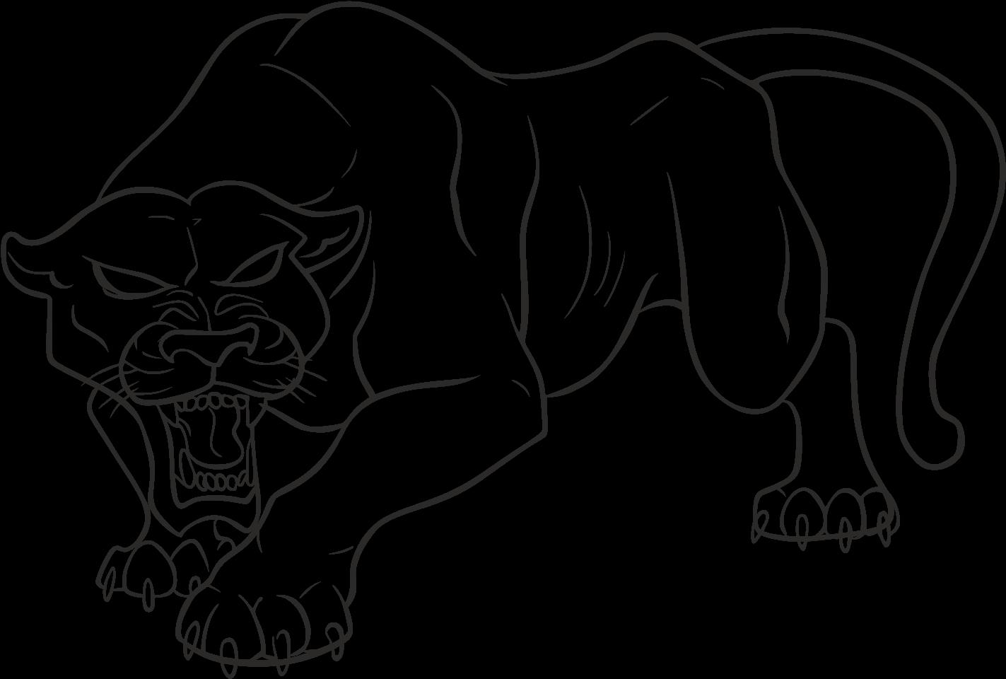Download Panther Png Pic Black Panther Animal Drawing Full Size Png Image Pngkit