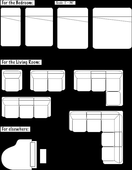 Download Floorplans Furniture Floor Plan Furniture Symbols Full Size Png Image Pngkit