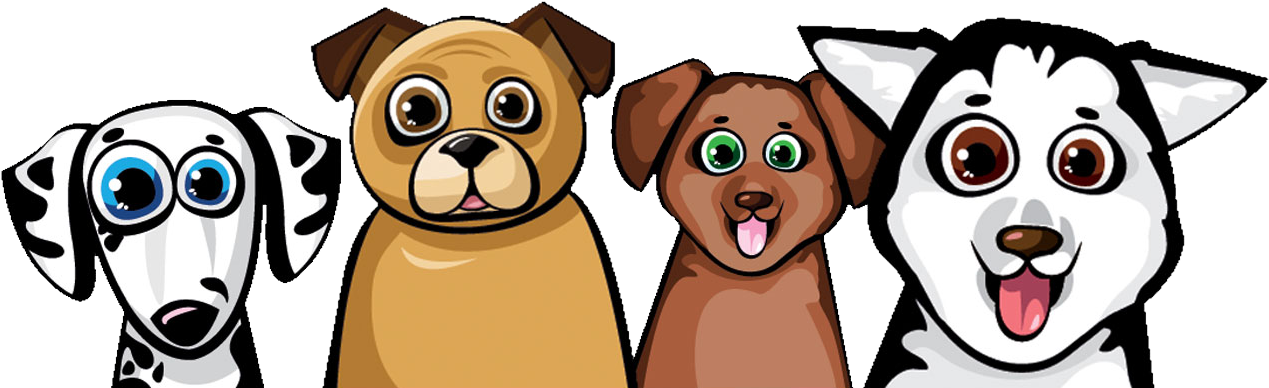 Download A Happy Dog Parent Starts With An Exhausted Dog Cartoon Full Size Png Image Pngkit