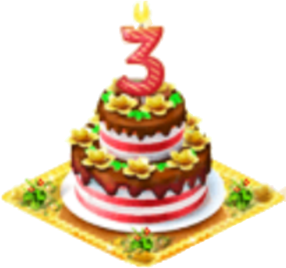 Download 3rd Birthday 3rd Happy Birthday Cake Png Full Size