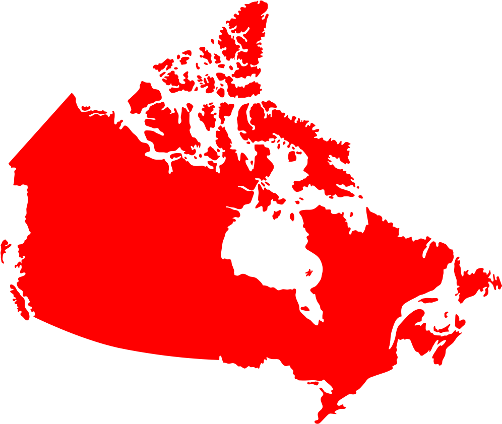Canada Map Solid Download Canada Map Red Silhouette   Canada Map Solid Color   Full