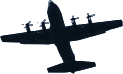 Download Airplane Free Vector Svg Vectorstash Hercules Aircraft