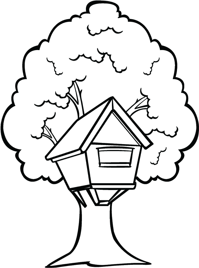 Download House With Trees Clipart Black And White Graphic ...