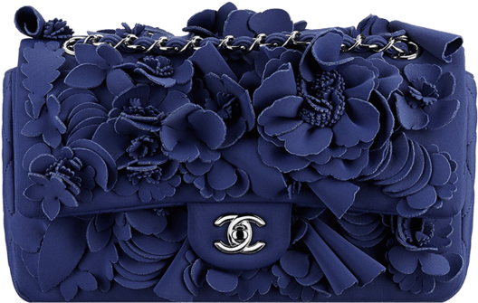 d12b73826a67 Chanel Flap Flower Bag - Chanel Camellia Bag Blue (846x1080), Png Download
