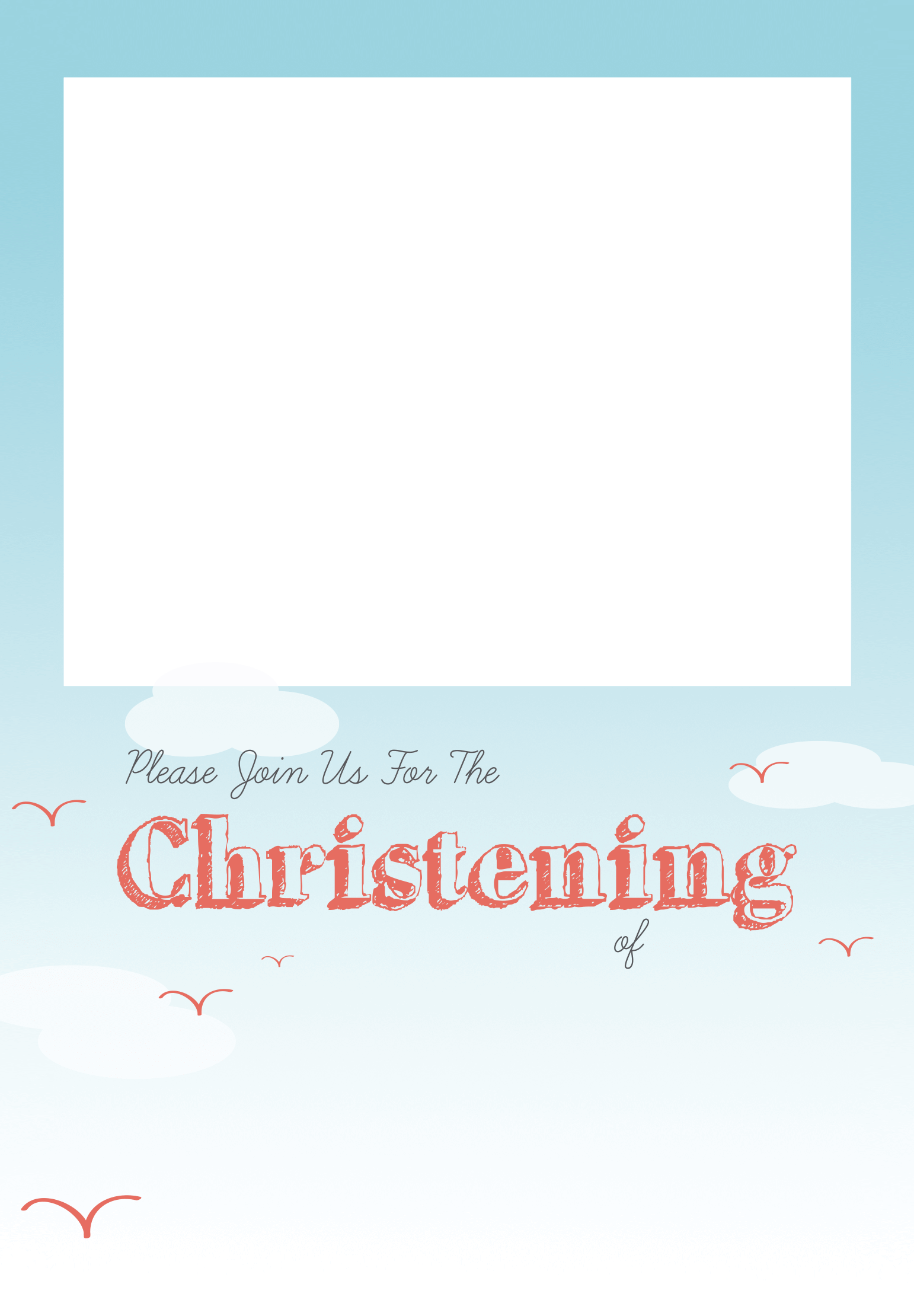 Download All Smiles Free Printable Christening Template Greetings - Christening  Invitation Template Png - Full Size PNG Image - PNGkit