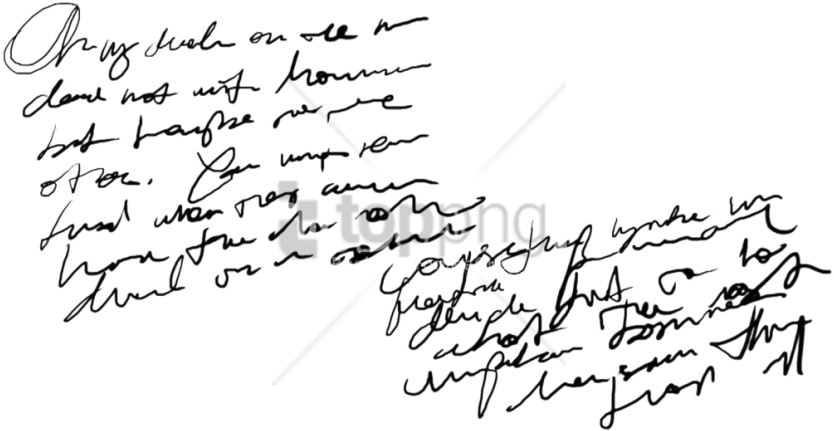 Download Free Png Handwriting Png Png Image With Transparent