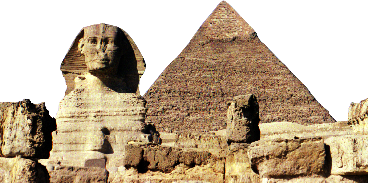 Download Of Djoser Great Sphinx Giza Egyptian Pyramids Pyramid Of Khafre Full Size Png Image Pngkit