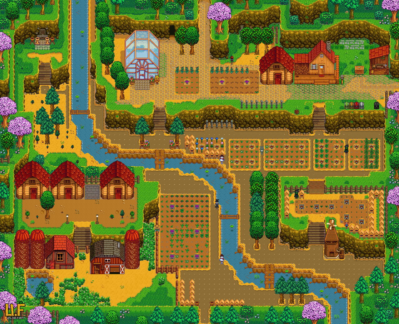 Download Stardew Valley Hilltop Farm Layout Full Size Png Image Pngkit