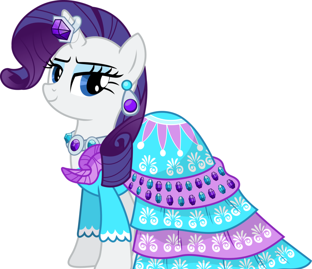 Download Gambar Kuda Pony Rarity My Little Pony Rarity Dress Full Size Png Image Pngkit