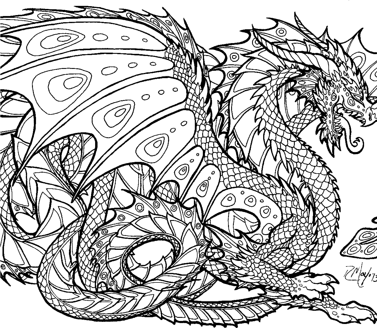 Download Announcing Realisticgon Coloring Pages With Astounding Hard Coloring Pages Of Dragons Full Size Png Image Pngkit